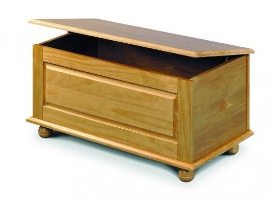 Julian Bowen Pickwick Blanket Box-color Pine