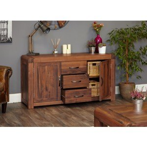 Baumhaus Shiro Walnut Large Sideboard