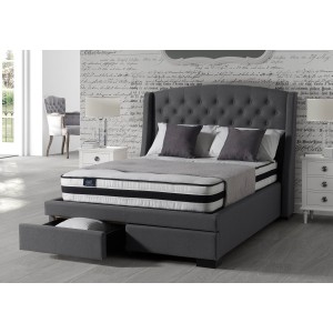 Sareer Sovereign 2 Drawer Fabric Bed Frame-