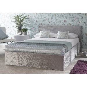 GFW End Lift Ottoman Crushed Velvet Bedstead-