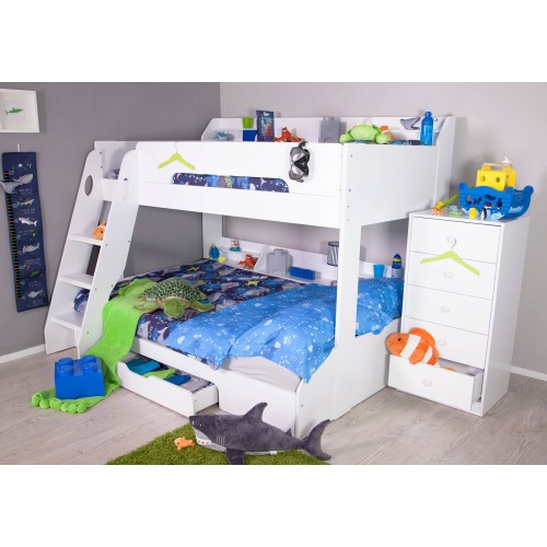 Flair Furnishings Flick Triple Bunk Bed White January Sale