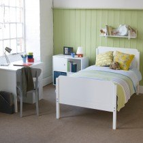 Little Folks Furniture Simple Bed Frame in White-