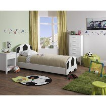 Serene Pallone Faux Leather Bed Frame