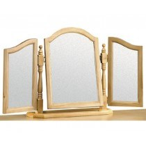Julian Bowen Pickwick Solid Pine Triple Dressing Table Mirror