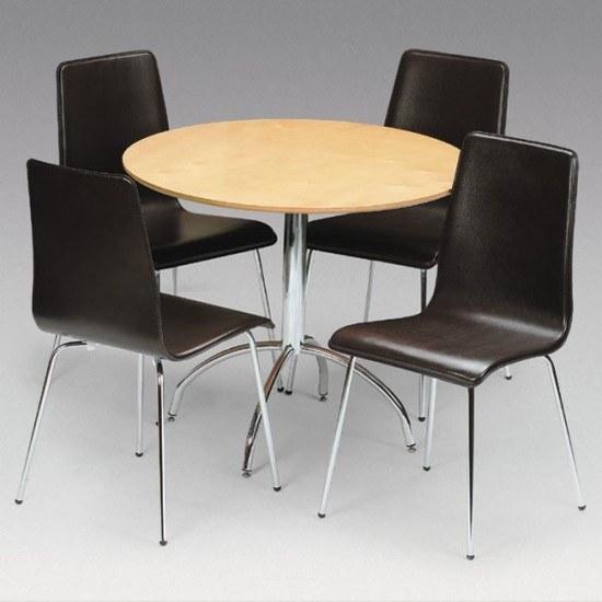 Julian Bowen Mandy leather Chair Dining Set