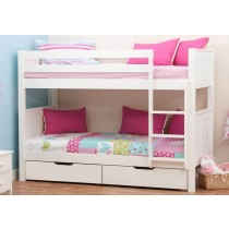 Stompa Classic Kids White Bunk Bed-color White