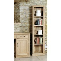 Baumhaus Mobel Oak Narrow Bookcase-