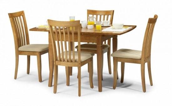 Julian Bowen Newbury Maple Extending Dining Table-