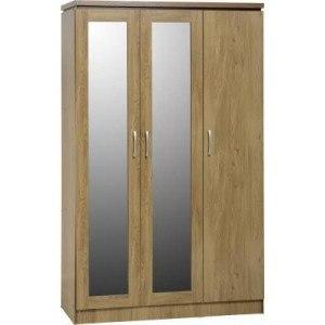 Seconique Charles 3 Door All Hanging Wardrobe