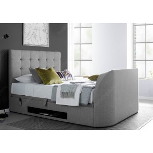 Kaydian Barnard Fabric Ottoman Multimedia Bed Frame In Grey-