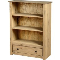 Seconique Panama 1 Drawer Bookcase-