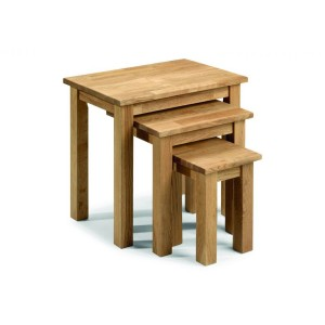 Julian Bowen Coxmoor Oak Nest of Tables-