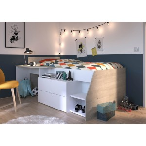 Milky Cabin Bed - Boys Room Set Image