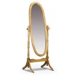Julian Bowen Pickwick Solid Pine Cheval Bedroom Mirror