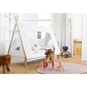 Woood Teepee Cabin Bed Frame-