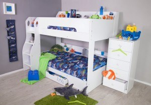 Flair Furnishings Flick Bunk Bed White-