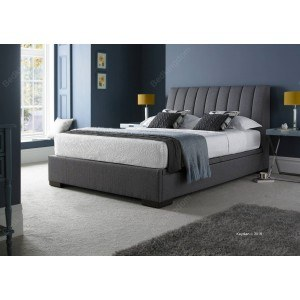 Kaydian Lanchester Fabric Ottoman Bed Frame in Grey-