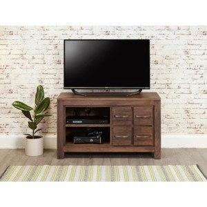 Baumhaus Mayan Walnut 4 Drawer TV Cabinet