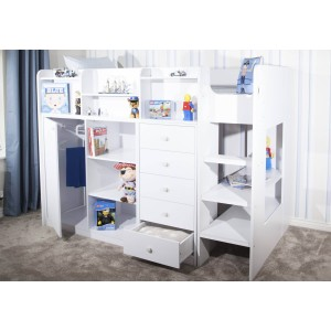 Flair Furnishings Wizard Junior High Sleeper Storage Station-