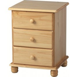 Seconique Sol 3 Drawer Bedside Chest
