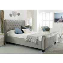 Flair Furnishings Lola Fabric Bed Silver-color Silver