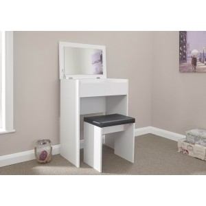 Compact Dressing Table Set - White