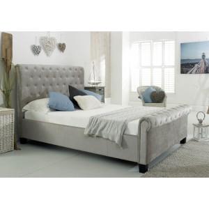 Flair Furnishings Lola Fabric Bed Silver-