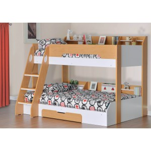 Flair Furnishings Flick Triple Bunk Bed Maple-