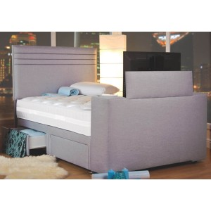 Image Chic TV Bed - Shown in Executive Silver Mist Fabric