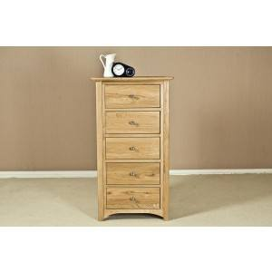 Fortune Wood Toulouse 5 Drawer Wellington Chest -