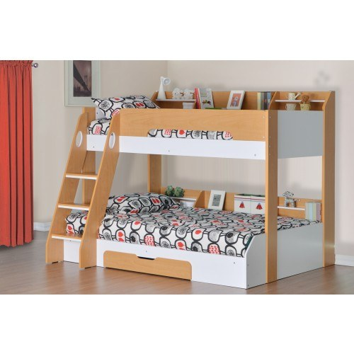 Flair Furnishings Flick Triple Bunk Bed Maple Triple Bunk