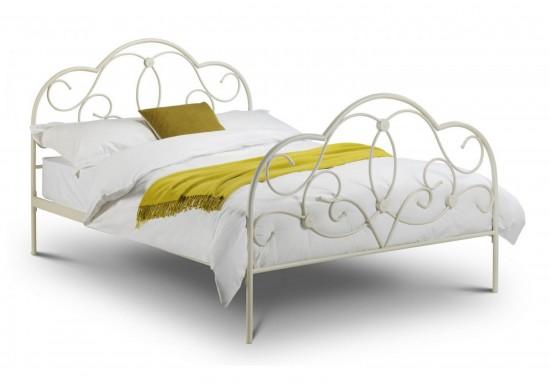 Julian Bowen Arabella Bed Stone White-color White
