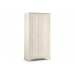 Julian Bowen Cameo Stone White 2 Door Wardrobe