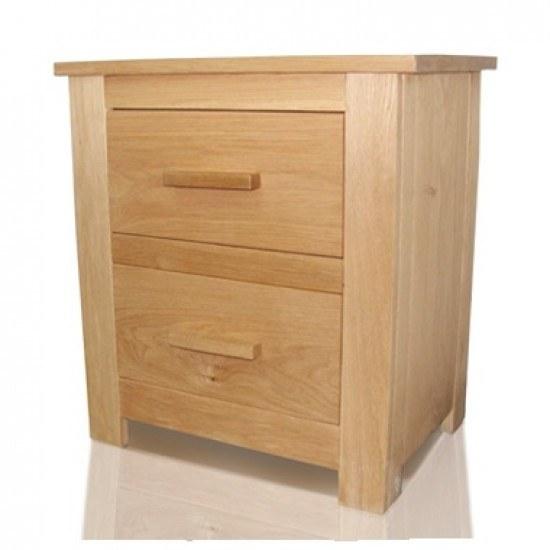 Flintshire Kinnerton Solid American Oak Bedside Cabinet