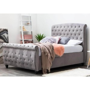 Sleep Design Hampton Grey Fabric Ottoman Bed Frame -