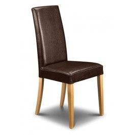 Julian Bowen Set of 4 Athena faux leather chair