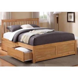 Flintshire Furniture Pentre Wooden Drawer Bed