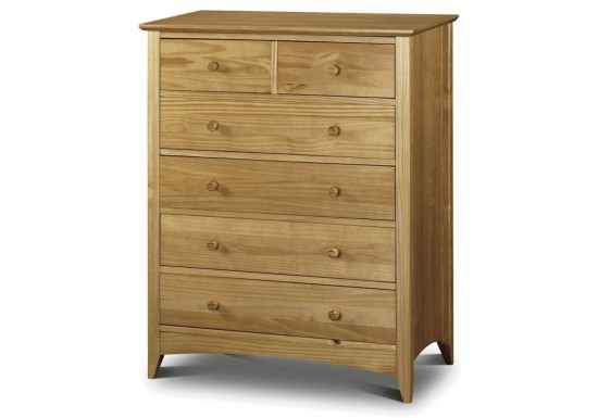 Julian Bowen Kendal 4+2 Chest Of Drawers-color Pine