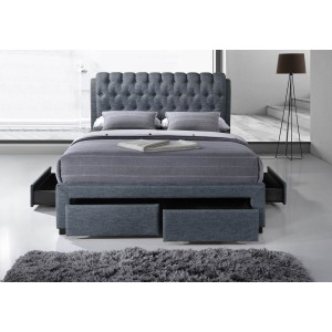 Artisan 4 drawer fabric bed frame -