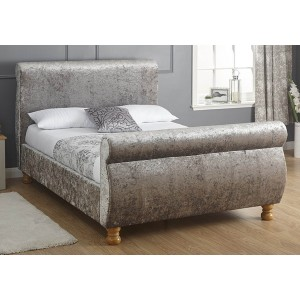 GFW Chicago Crushed Velvet Fabric Bed Frame-