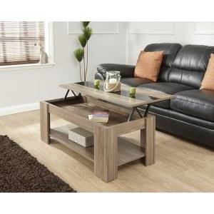 GFW Liftup Coffee Table High Gloss Strip