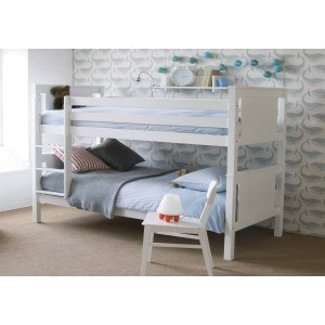Little Folks Furniture Classic Beech Bunk Bed in White-