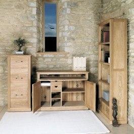 Baumhaus Mobel Oak Hidden Home Office Desk
