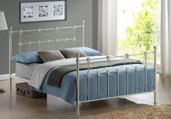 Time Living Omero Metal Bed Frame-color Ivory