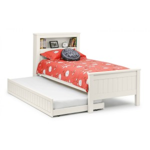 Julian Bowen Maine White Bookcase Bed Frame-