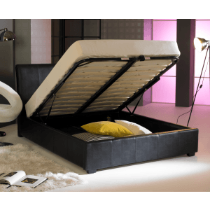 Artisan Leather Ottoman Bed Frame