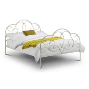 Julian Bowen Arabella Bed Stone White-