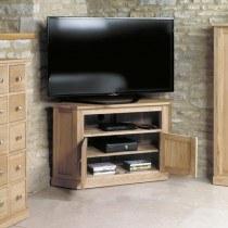 Baumhaus Mobel Oak Corner Television Cabinet-