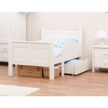 Stompa Classic Kids White Starter Bed And Foam Mattress-