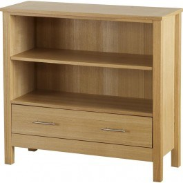 Seconique Oakleigh 1 Drawer Low Bookcase